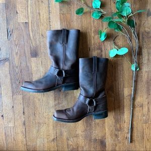 Men's Frye brown leather Harness boots